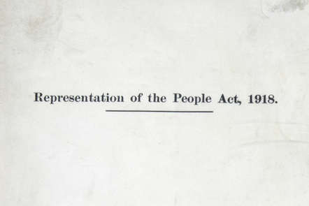 Photo of The Representation of the People Act 1918