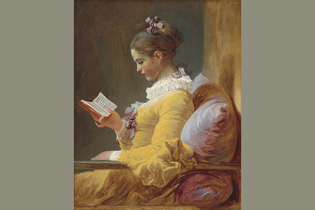 A painting of Jean-Honoré Fragonard called Young Girl Reading