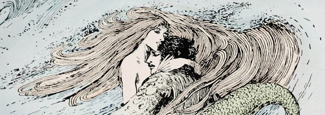 Illustration of Hans Christian Andersen's Little Mermaid