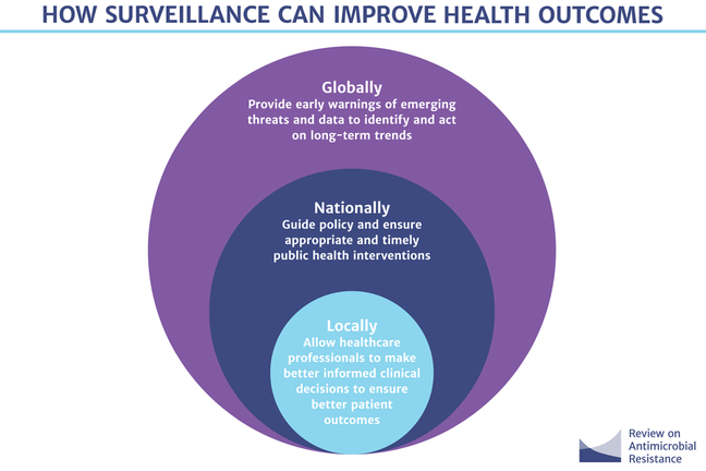 Graphic of how surveillance can help improve health