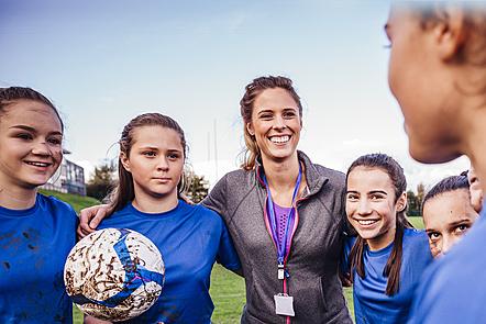 a girls soccer team