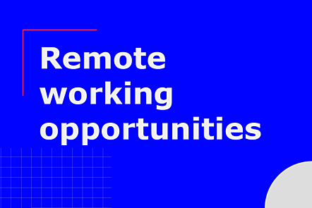 Remote working opportunities