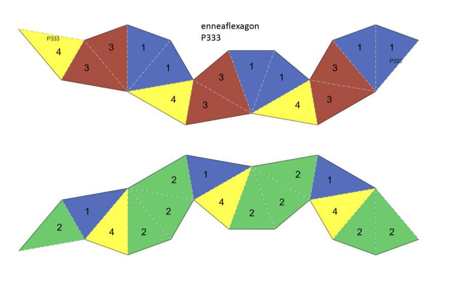Template for P333 flexagon