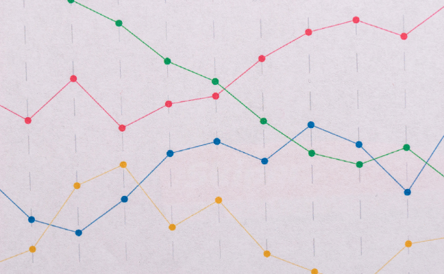 line graph with multiple intersecting lines
