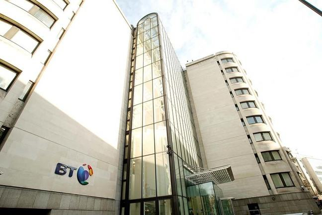 Building with BT logo