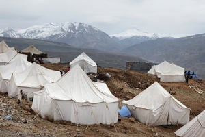 Tents for Earthquake Survivors, Elazig, Turkey 'Tents of Turkish Red Cross for the eartquake of Elazig, Turkey in 8 March 2010. Image captured after one month of the earthquake.'