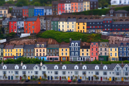 A row of houses in Co. Cork, Ireland.