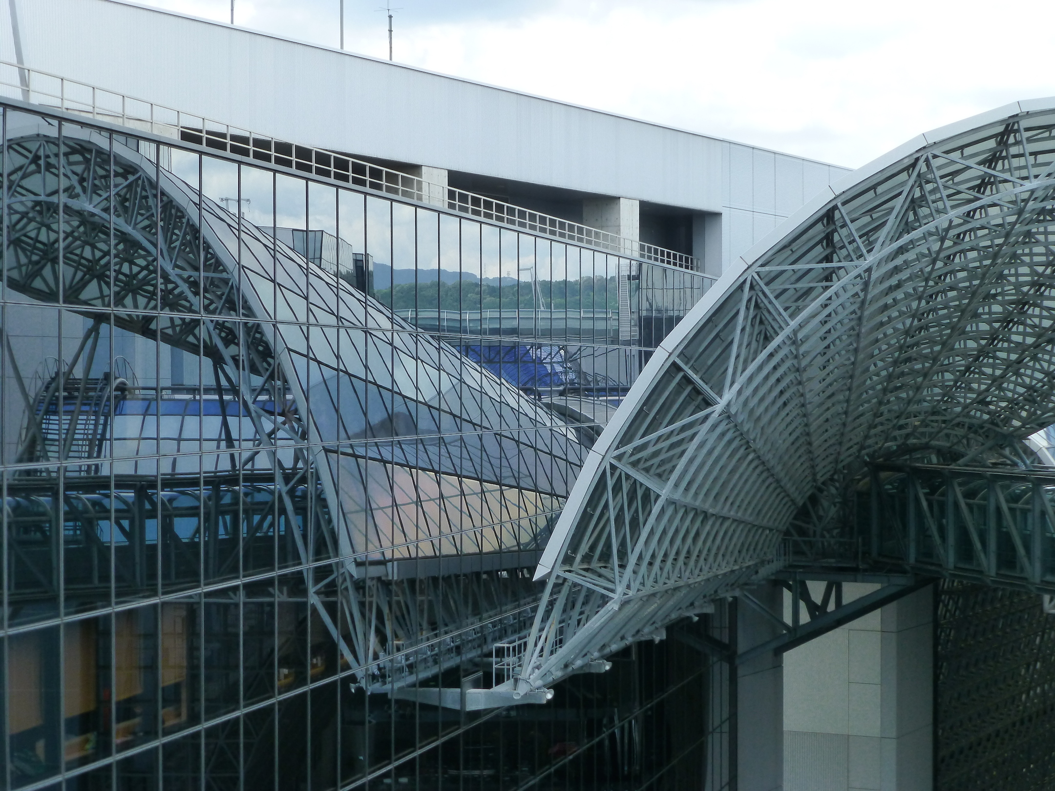 Roof of Kyoto railway station