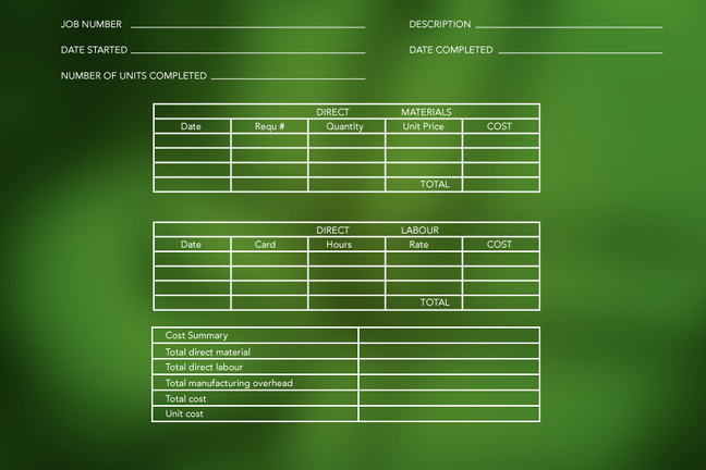 Image of cost sheet