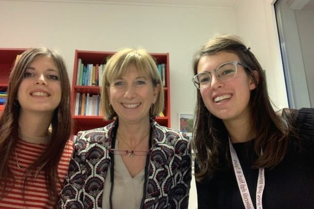 Photo of the team of the course, Sara Mondini, Claudia Bellani, Roberta Occhiuto