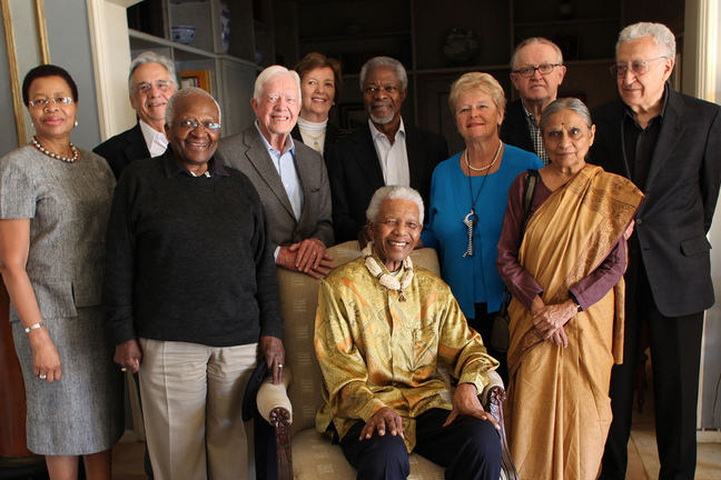 Nelson Mandela with the Elders