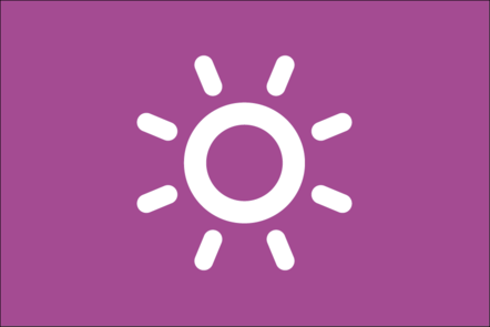 Weather icon of the sun