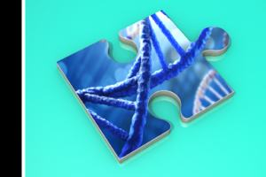 Image of DNA helix genetics
