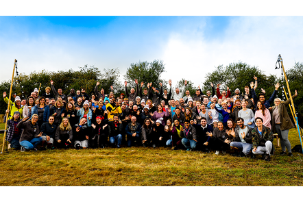 Photograph of Raspberry Pi team