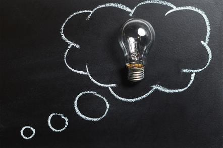 Ampoule, bulle de pensée, Pexel, CC