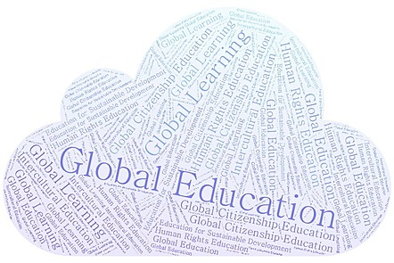 word art of global education terms