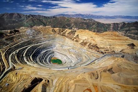 Large open-cast mine