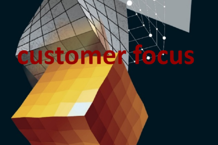 "Part of Scale-up Manual front cover image with the word ""customer focus""."