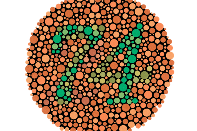 Ishihara test for colour blindness