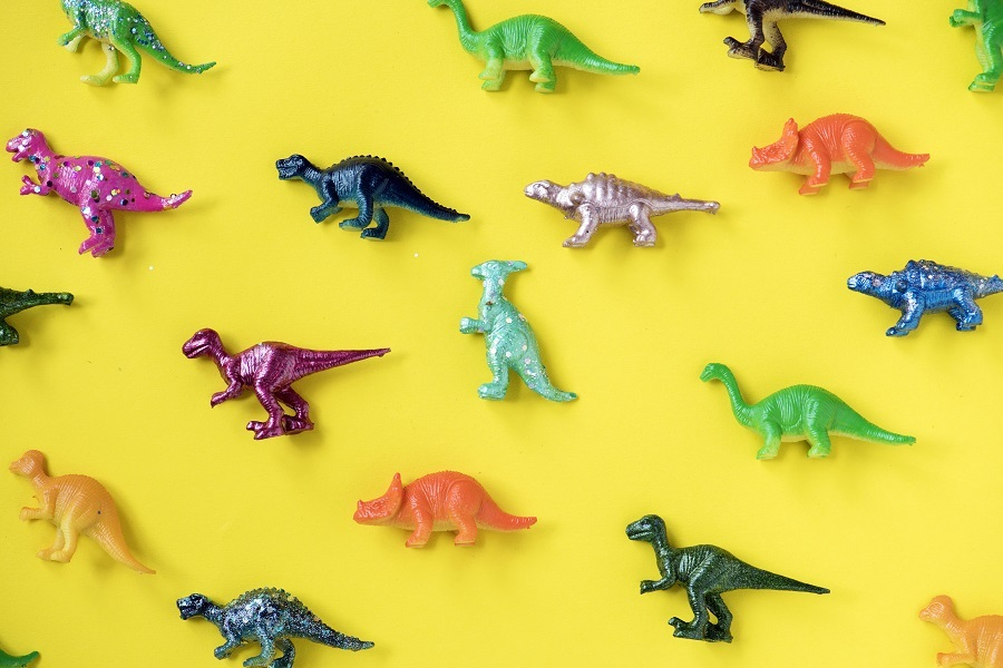 Collection of plastic dinosaurs