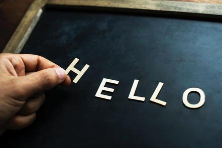 """This picture is about """"hello"""""""