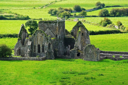 A ruined church in rural Ireland