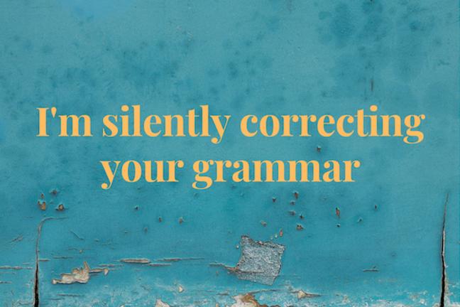 Grammar Text Card