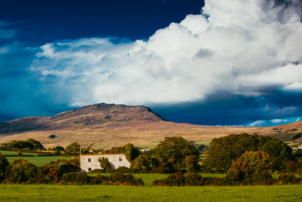 The Cooley Mountains, located on the Cooley Peninsula in northeast County Louth in Ireland.