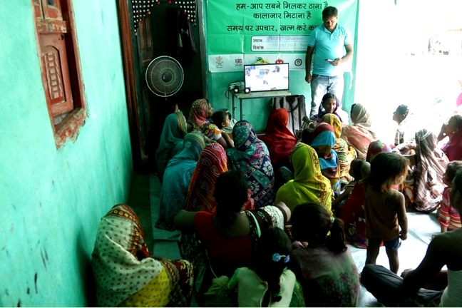 Community health education activity in a rural village in endemic area in India