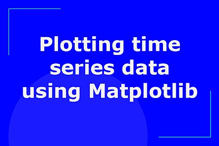 Plotting time series data using Matplotlib