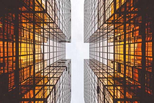 upward view of skyscraper