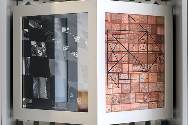 An art installation by Pippa Skotnes - 3-D cube