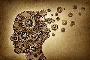 image of a human head as clockwork