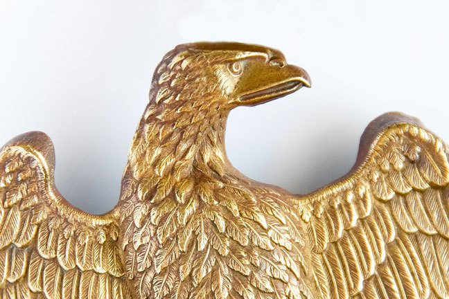 Bronze eagle which formed part of French military standards (regimental flags)