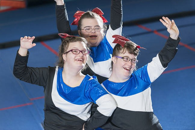 3 learning disabled female cheerleaders