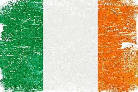 The flag of Ireland.