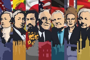 Illustrations of political leaders