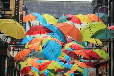 Umbrellas in Kilkenny