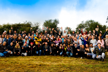 A group shot of the CoderDojo Foundation team