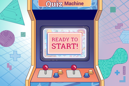 "The quiz machine showing ""READY TO START"""