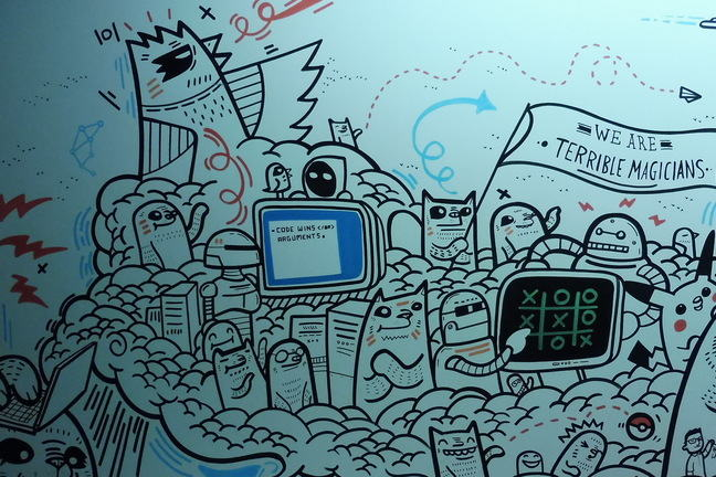 Wall painting about Software Development