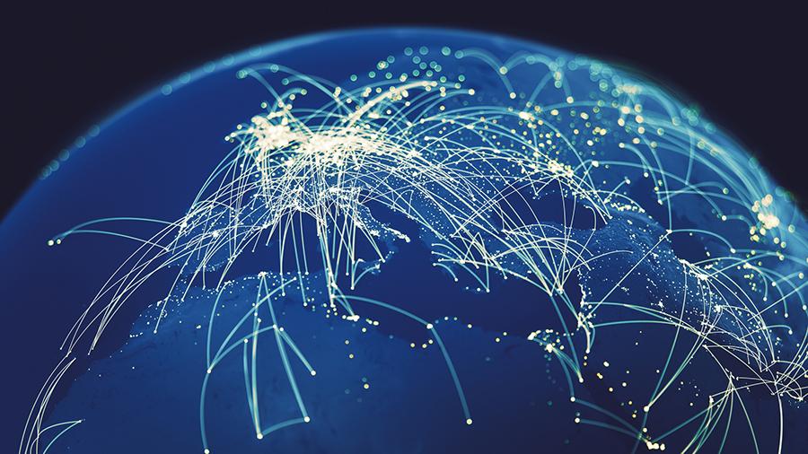 Global Connections (World map texture credits to NASA).