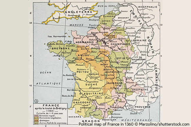 Map Of France Gascony.Agincourt In Context The Hundred Years War