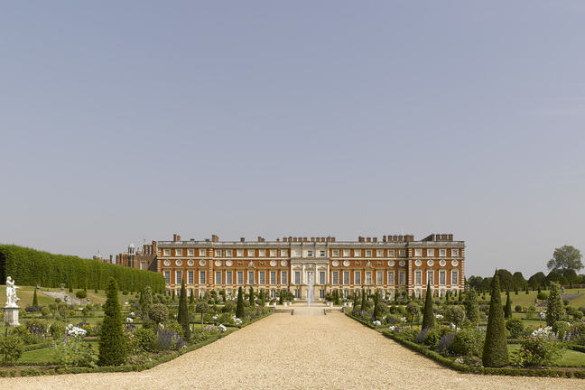 A full shot of Hampton Court.