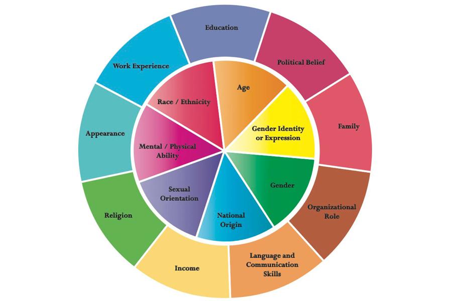 Diversity Wheel adapted from Johns Hopkins University