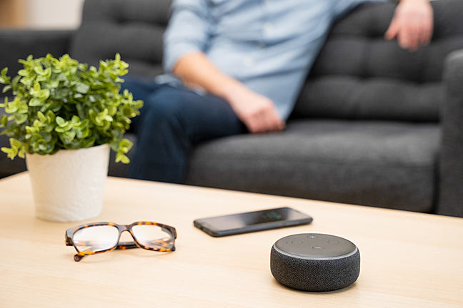 Smart speaker on table