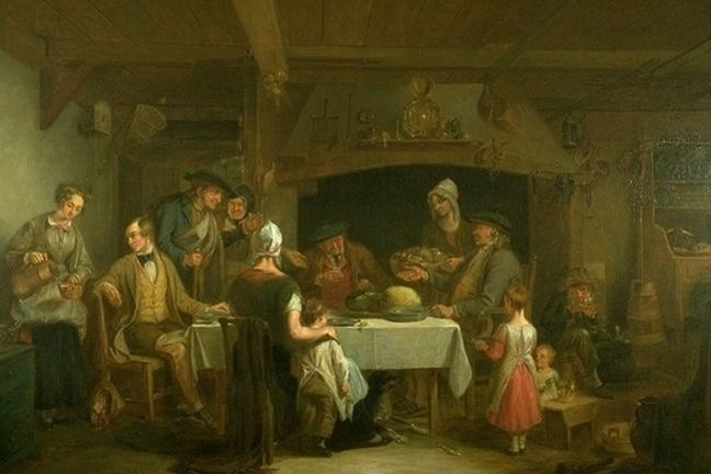 'The Haggis Feast' by Alexander Fraser, ARSA
