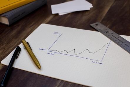 Handmade line-graph