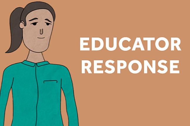 Educator response graphic