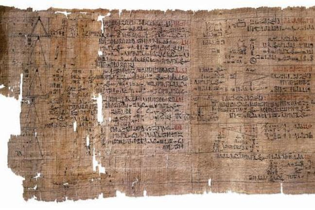 Image of the Rhind Papyrus
